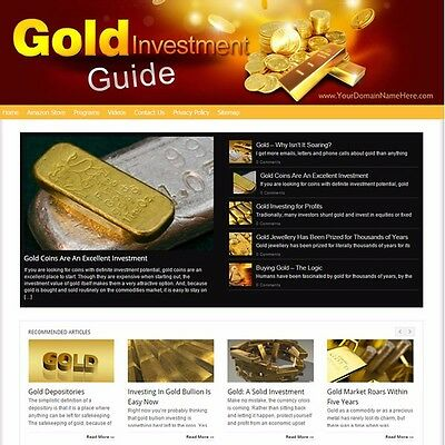 Established GOLD INVESTING Ready Made MOBILE FRIENDLY Website For Sale