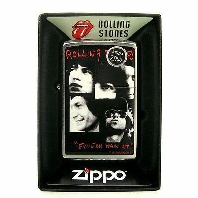 Rolling Stones 'Exile On Main St' Zippo : 2013 : Mint in Box - Sealed