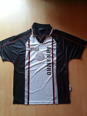 2x Ajax Amsterdam Vintage Away Football Jersey Old Rare S XL 90s 98 99 Voetbal