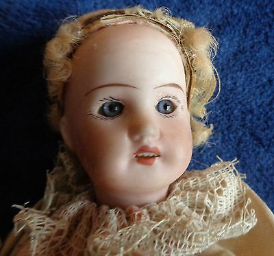 Antique 1911 Ribbon Marotte Bisque Head  Open Mouth  German  All Original