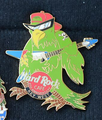 HARD ROCK CAFE PIN - Key West, 5th Anniversary parrot.  2001, LE2001