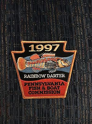 PA FISH & BOAT COMMISSION Fishing Patch 1997 Rainbow Darter