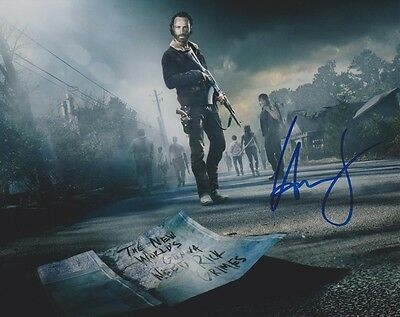 Andrew Lincoln High Gloss Signed Autograph Coa - Walking Dead