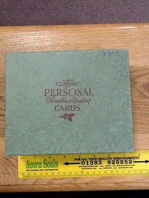 Vintage Sharpe's Classic Personal Christmas Greeting Cards Box