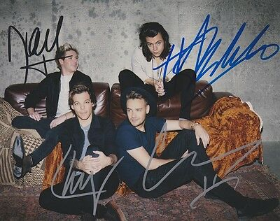 One Direction High Gloss Signed Autograph Coa