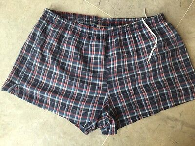 Vintage 1980s St Michael M & S Men's Swimwear Swimming Trunks Shorts Plaid W34""