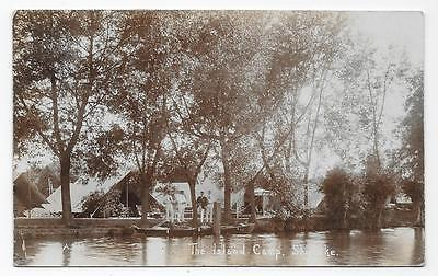 Shiplake, The Island Camp From River, Nr. Henley- On- Thames, Used 1910, Rp.