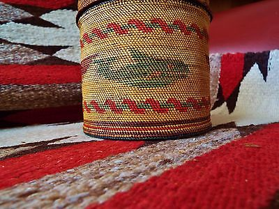 Extraordinary Basket North West coast native american Indian 4+inches high 1900?