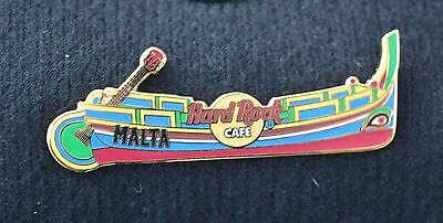 HARD ROCK CAFE PIN - Malta, Tradition boat with guitar.  LE200