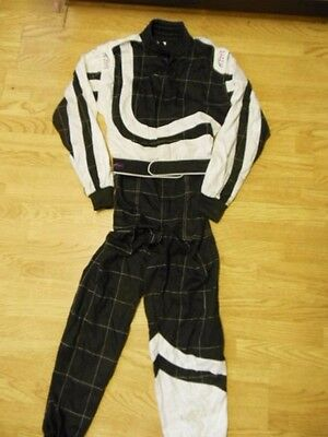 PM Sports Carting Driving Racing Overall Suit Black Medium