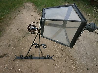Antique wall mounted iron lamp