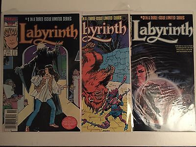 Marvel 1986 Labyrinth 3 Series Comic Book Very Good Complete Collection