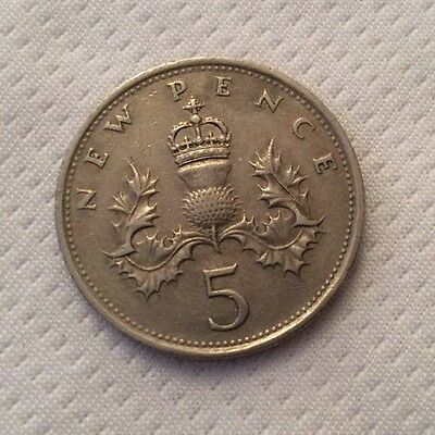 ELIZABETH II OLD 5P COIN year 1968 - 1989 Collectable 26 Available