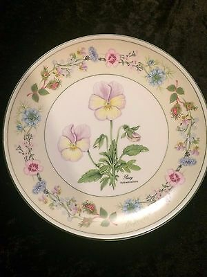 """Aynsley Pansy Decorative Plate 8.5"""""""