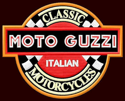 """MOTO GUZZI EMBROIDERED PATCH ~4-1/2"""" x 3-1/2"""" MOTORCYCLE CALIFORNIA LE MANS V2"""