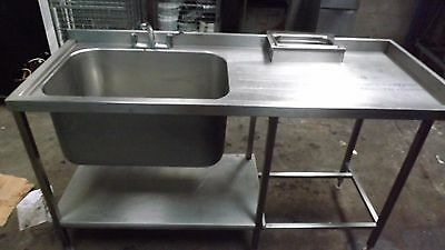 Commercial All Stainless Steel Catering Single Bowl Sink
