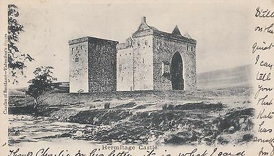 Old Postcard of Hermitage Castle Hawick Scotland