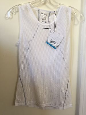 New Women's Craft Cool Mesh Superlight Base Layer Size Small White Sleeveless