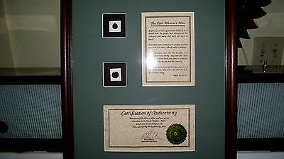 WIDOWS MITE  ANCIENT COINS,Billy Martin FRAMED AMERICANA COLLECTABLES