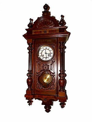 BEAUTIFUL GERMANY ANTIQUE WALL CLOCK Lucca circa 1890 super gong strike sound