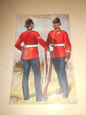 EARLY 1900s HARRY PAYNE MILITARY PC - THE SOUTH WALES BORDERERS - GALE & POLDEN