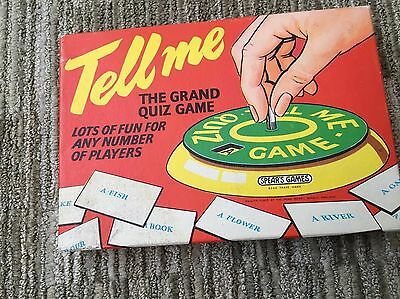 Vintage Quiz Game - TELL ME  By Spears c.1950s