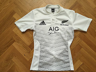 maillot autographie signed jersey Daniel Carter All Blacks Rugby
