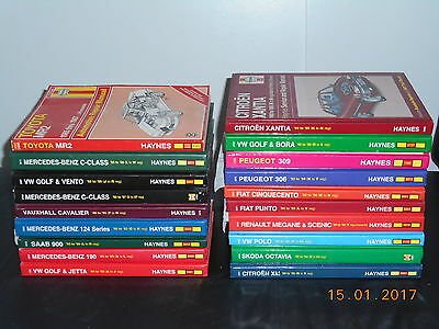 Collection Haynes manuals 19 in all