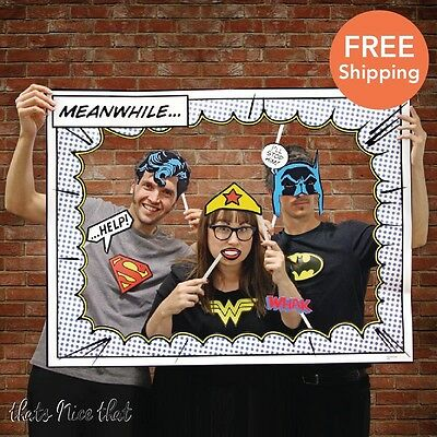DC Comics Photo Booth Props Wedding Gift Prop Party Frame Polaroid Birthday Fun