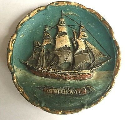 Old Ironsides USS Constitution Dish Plaque