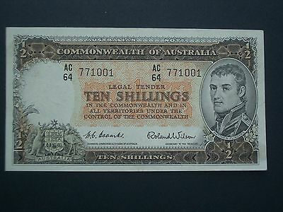 ***Commomwealth of  Australia** 1960's 10's  'GEF/AUN'  Banknote*****