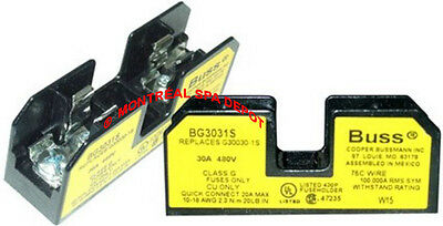 "Bussman FUSE HOLDER  for spa & hot tub Time-Delay ClassG fuses size: 1.5"" x 3/8"""