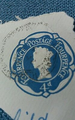 4d fourpence envelope stamp