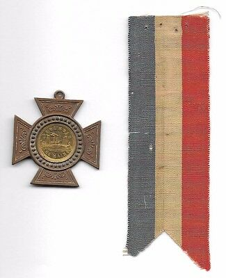 Great Spanish American War Medal & Ribbon: Remember The Maine, Cuba Must Be Free