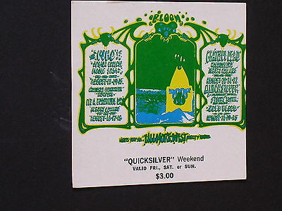 BG133 GRATEFUL DEAD & THE WHO Psychedelic FILLMORE TICKET by GRIFFIN & KELLEY