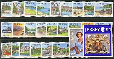 JERSEY SG468-491c 1989-95 DEFINITIVES Complete set 26 values Unmounted Mint