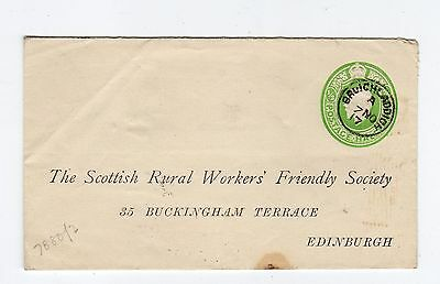 1917 postal stationery envelope with BRUICHLADDICH, Isle of Islay pmk (C24519)