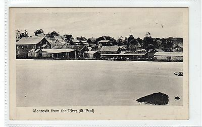 MONROVIA FROM THE RIVER (ST. PAUL): Liberia postcard (C24524)