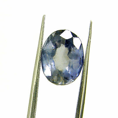 3.45 Ct Certified Natural Blue Iolite Oval Untreated loose Gemstone  - H 117986