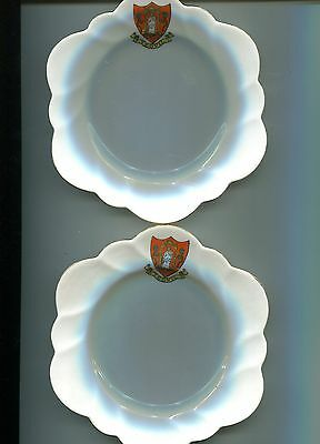 Crested Side-Plates. Yeovil Crest. A Pair