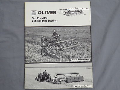 original 1957 Oliver Tractor sales Brochure Swathers Windrower early Catalog 85