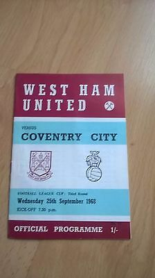 West Han V Coventry League Cup 1968