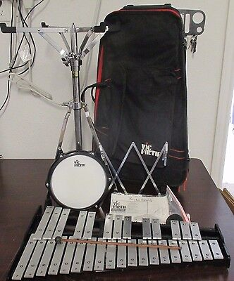 Pre Owned Vic Firth Xylophone V8806 Case, Stand, Practice Drum Precussion Set