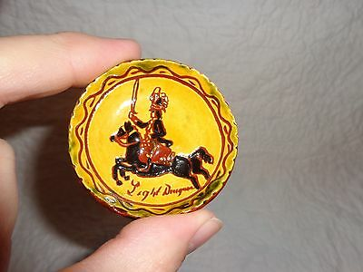 Breininger Redware Pottery Miniature Light Dragoons Charger, 1985