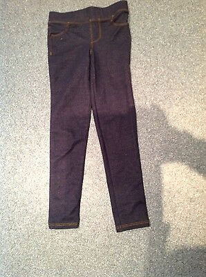 Girls Blue Jeggings age 8 ( 128 cm) by Okaidi from France