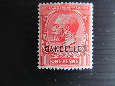 RARE GB GEO V Royal Cypher 1d CANCELLED - mh