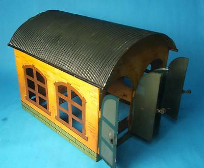 Marklin tinplate O gauge two road engine shed *Excellent*