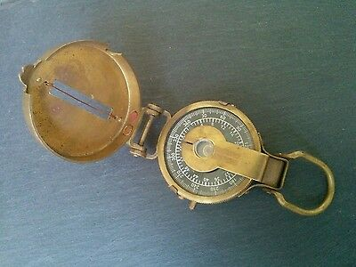 Collectable Vintage Brass Marching Compass Navigation Compasses