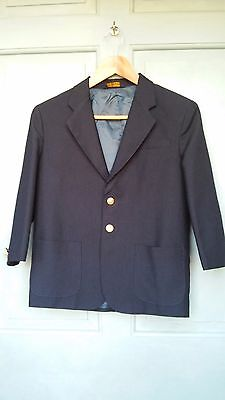 Child's English Riding Show Coat Size 10 Husky Navy