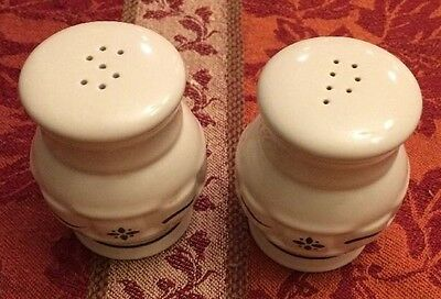 Longaberger Woven Traditions Green Salt and Pepper Shakers